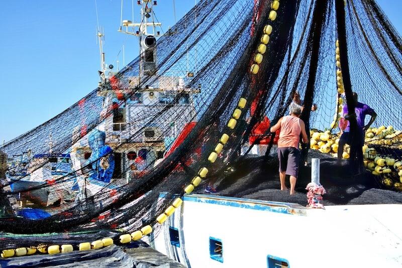 αλιεία με μηχανότρατα - δίχτυα