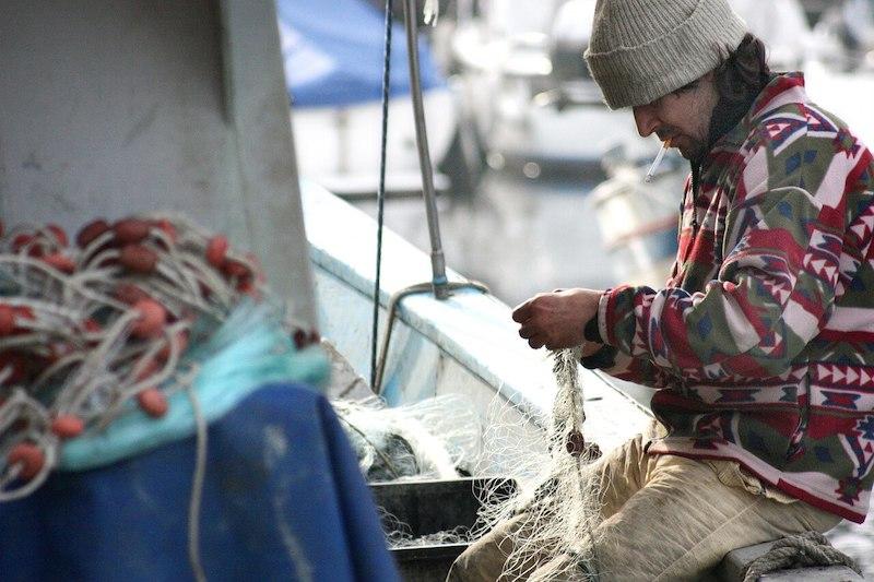 ψαράς - δίχτυα