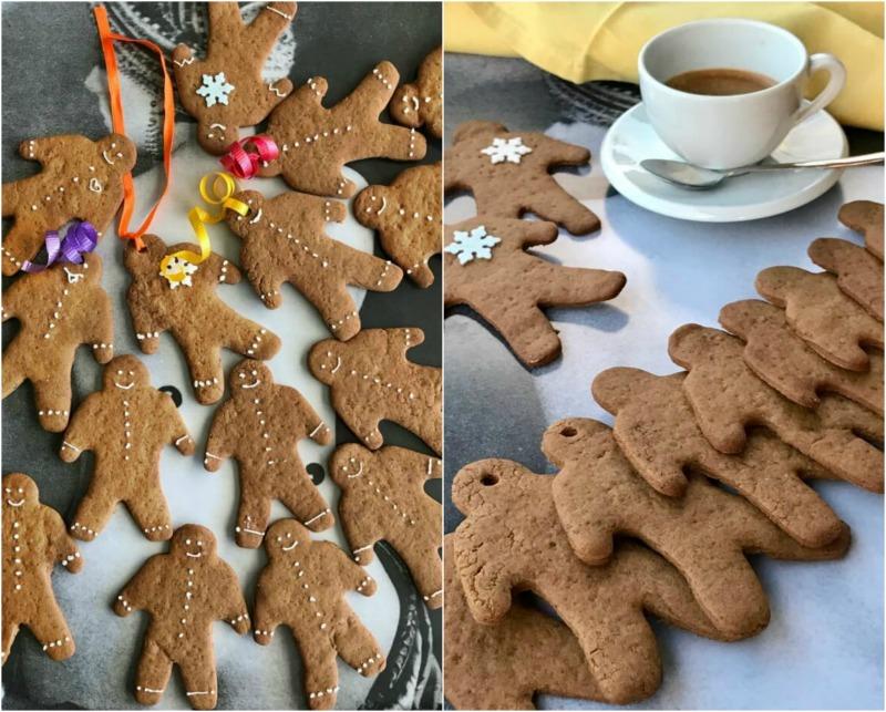 εύκολα μπισκότα gingerbread χωρίς αυγά