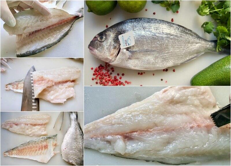 φιλετάρισμα τσιπούρας - πως φιλεταρουμε ψάρι - φιλεταρισμα ψαριου - τεχνικη φιλεταρισματος ψαριου - συναγριδα φιλεταρισμα