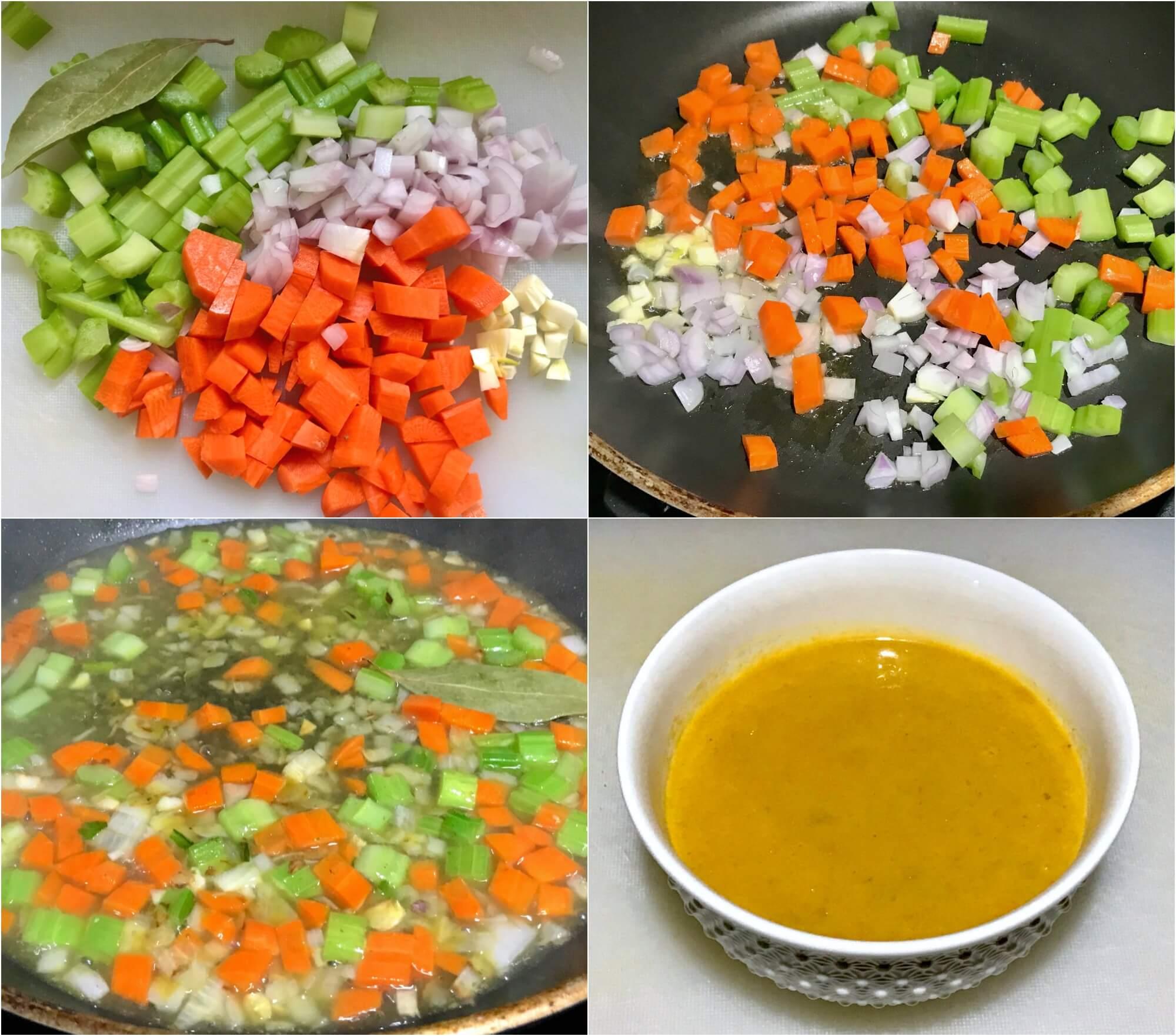 σάλτσα λαχανικών για Timballo λαζάνια με σπανάκι, μανιτάρια, προσούτο & μπεσαμέλ