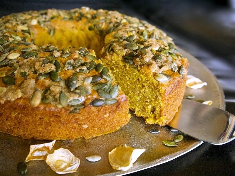 Κέικ κολοκύθας κίτρινης συν 3 παραλλαγές: χωρίς ζάχαρη, vegan, με κακάο