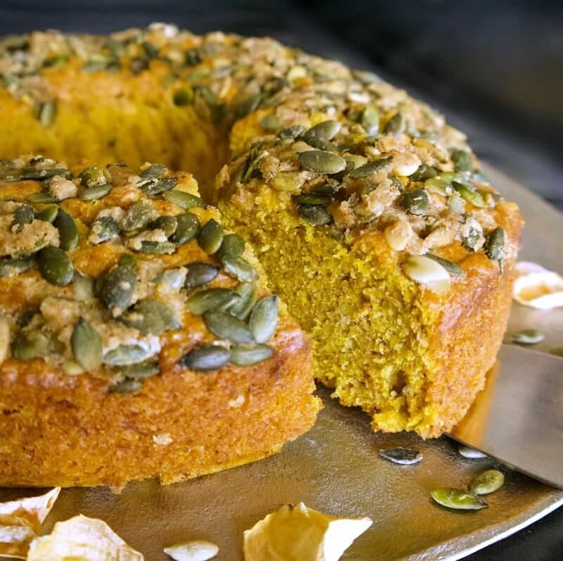 κέικ με κολοκύθα κίτρινη