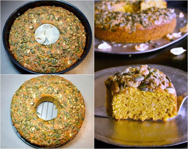 Εύκολο κέικ με κολοκύθα κίτρινη χωρίς μίξερ