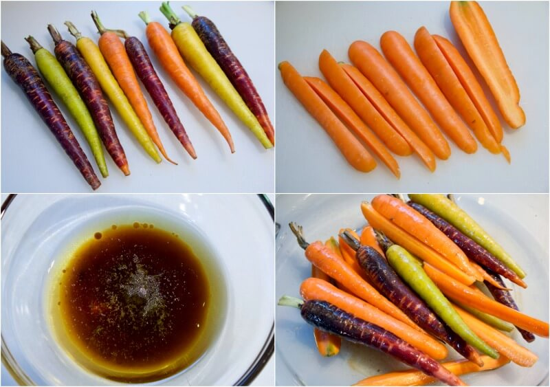 Baby καρότα γλασέ, με θυμάρι και μπαλσάμικο - καρότα συνοδευτικό