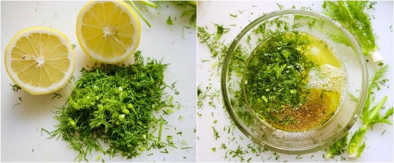 σάλτσα λεμονιού με μάραθο ή άνηθο για ψάρι ψητό στο φούρνο - μαρινάδα για λαβράκι στο φούρνο
