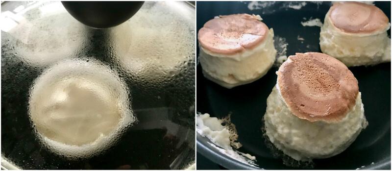 πως κάνουμε ψηλές γιαπωνέζικες τηγανίτες με μεταλλικά δαχτυλίδια