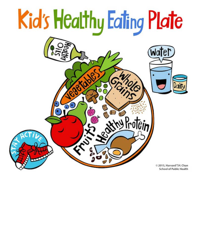 Πιάτο υγιεινής διατροφής παιδιών - Copyright © 2015 Harvard T.H. Chan School of Public Health.
