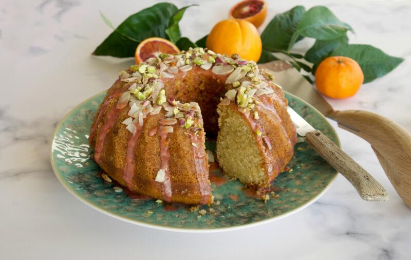 Εύκολο κέικ πορτοκάλι, σανγκουίνι, μανταρίνι νηστίσιμο, χωρίς μιξερ