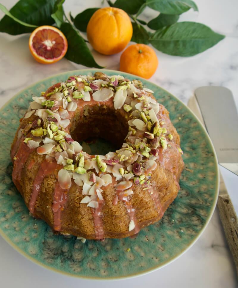 Εύκολο κέικ πορτοκάλι, σανγκουίνι, μανταρίνι νηστίσιμο, χωρίς μίξερ