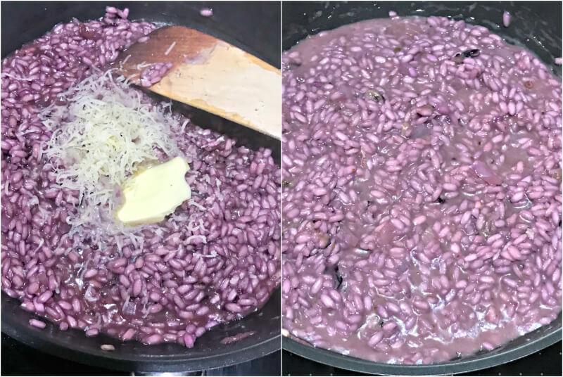 Ριζότο με μύρτιλα και παρμεζάνα ολοκλήρωση