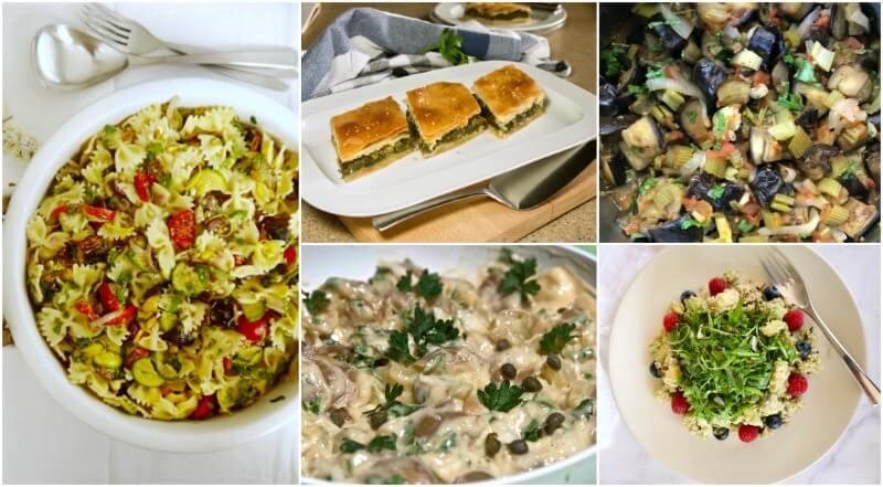 Πασχαλινό τραπέζι χωρίς κρέας: σαλάτες και σπανακόπιτα