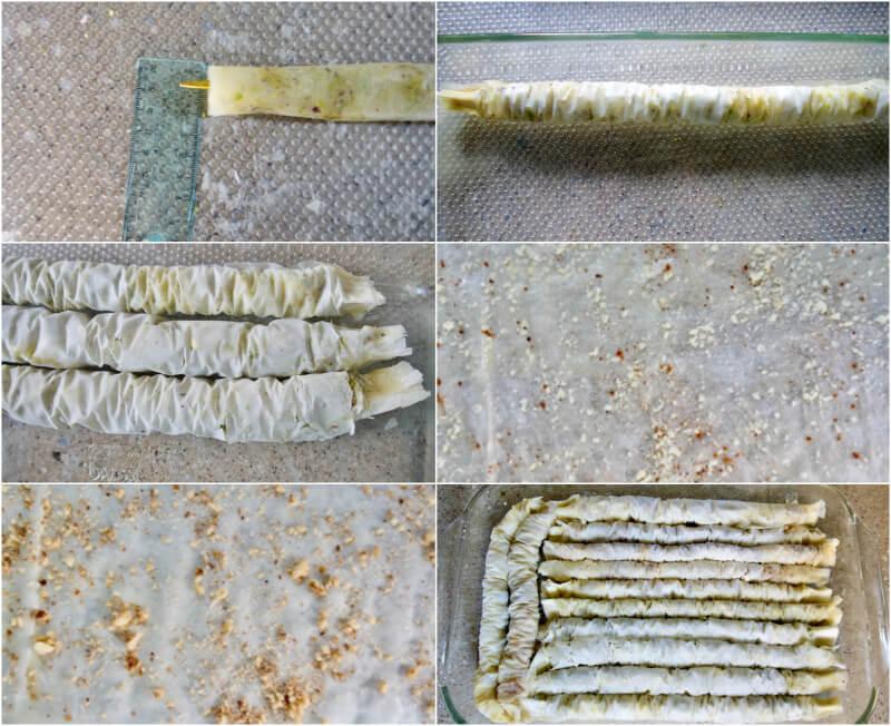 Παραδοσιακό σαραγλί βήμα βήμα: ρολά στο ταψί
