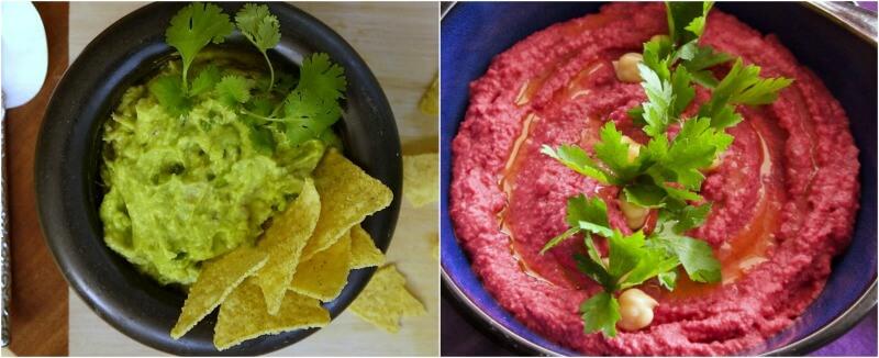 Πάσχα χωρίς κρέας για το χορτοφαγικό τραπέζι: γουακαμόλε και χούμους με παντζάρι