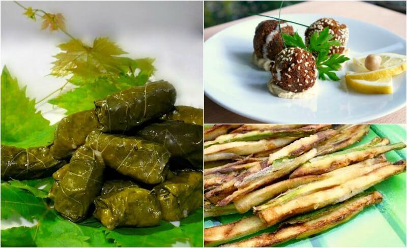 Πασχαλινό τραπέζι χωρίς κρέας: ντολμαδάκια γιαλατζί, κεφτεδάκια φαλάφελ και τηγανητά λαχανικά