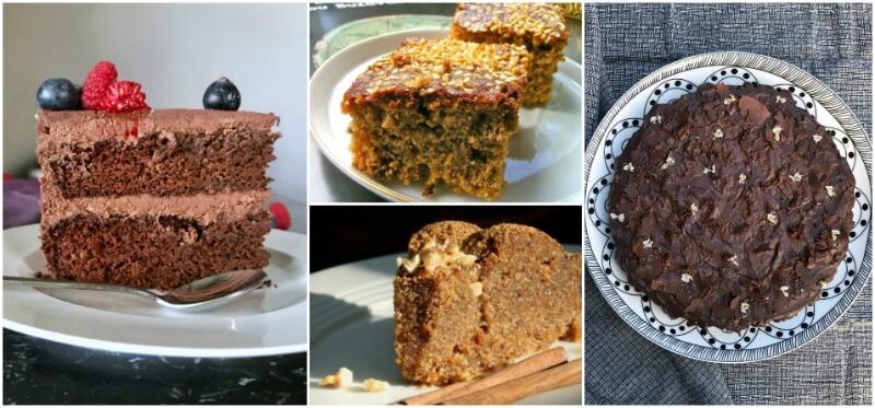 Χορτοφαγικό τραπέζι με vegan γλυκά χωρίς αυγά: τούρτα σοκολάτας, φανουρόπιτα, χαλβάς