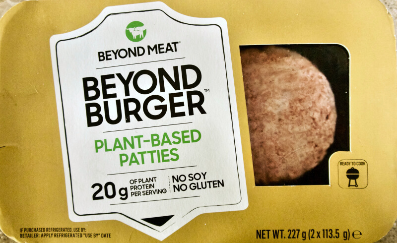 Beyond meat: συσκευασία με δύο μπιφτέκια