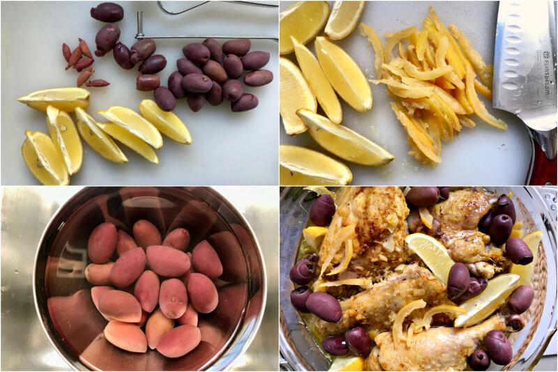 λεμόνια και ελιές για κλασικό μαροκινό κοτόπουλο