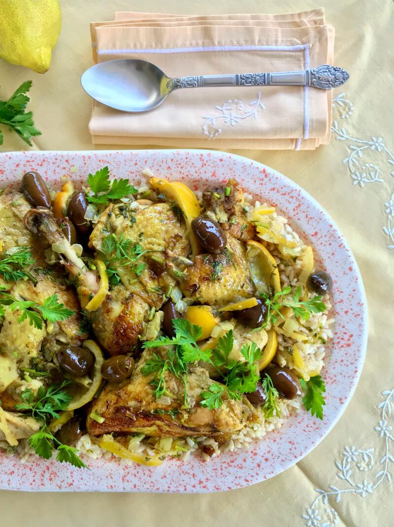Κοτόπουλο με λεμόνια και ελιές μαροκινό - αυθεντική, μαροκινή κουζίνα