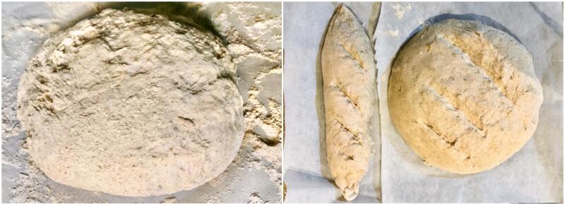 Ζύμη ψωμιού πριν το ψήσιμο στον φούρνο
