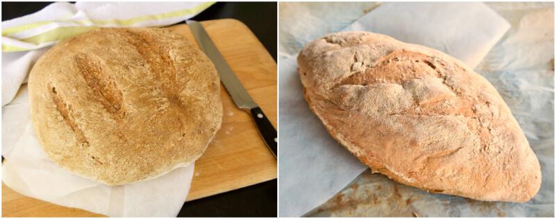 Γρήγορο, εύκολο ψωμί χωρίς ζύμωμα, σε δύο τύπους, έτοιμο σε 3.5 ώρες