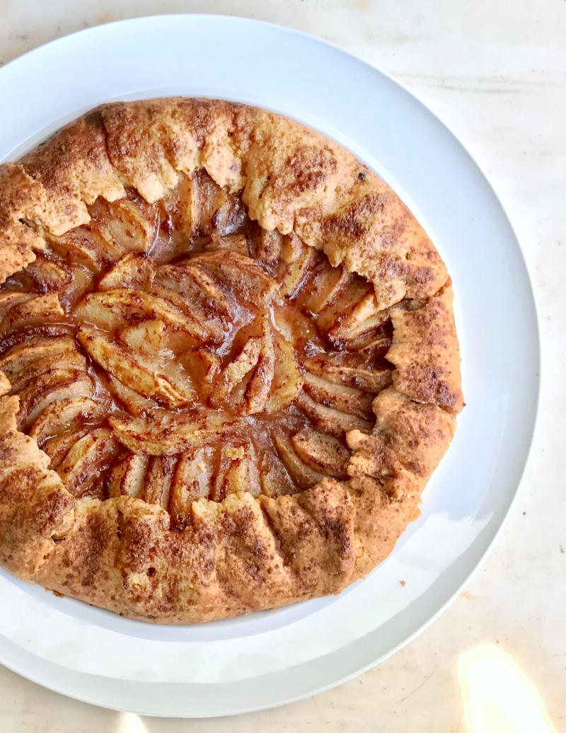 γκαλέτ με μήλα - γαλλική ρουστίκ μηλόπιτα