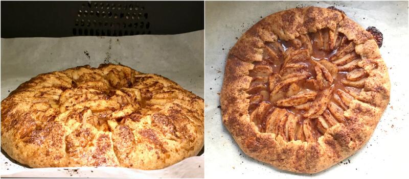 γαλλική ρουστίκ μηλόπιτα: ψήσιμο