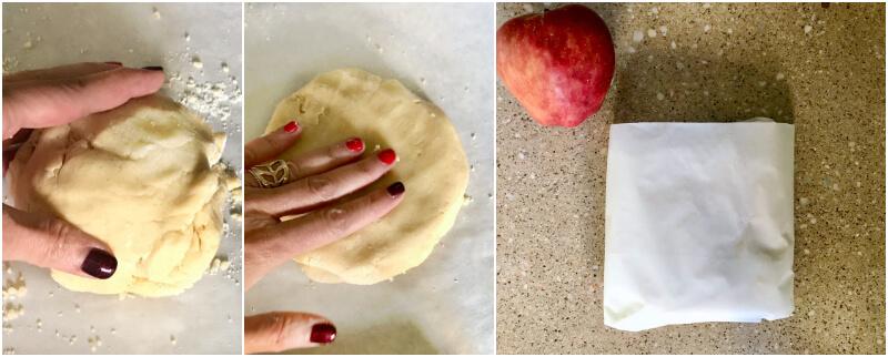 γλυκιά ζύμη για γαλλική ρουστίκ μηλόπιτα