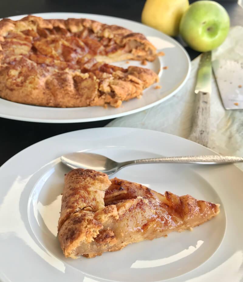 γαλλική ρουστίκ μηλόπιτα