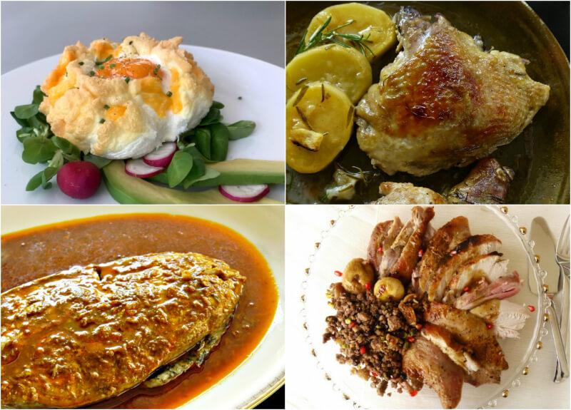 Πηγές πρωτεϊνών: αυγά, κοτόπουλο, γαλοπούλα, ψάρι