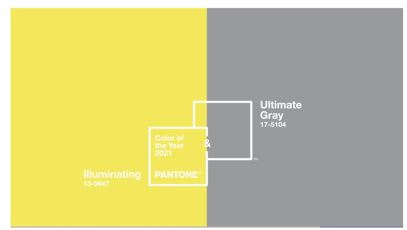 Pantone colours 2021: απόλυτο γκρι και λαμπερό κίτρινο