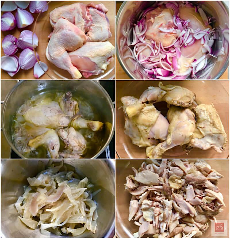 παραδοσιακή, παλιά συνταγή για πίτα με κοτόπουλο: βράσιμο
