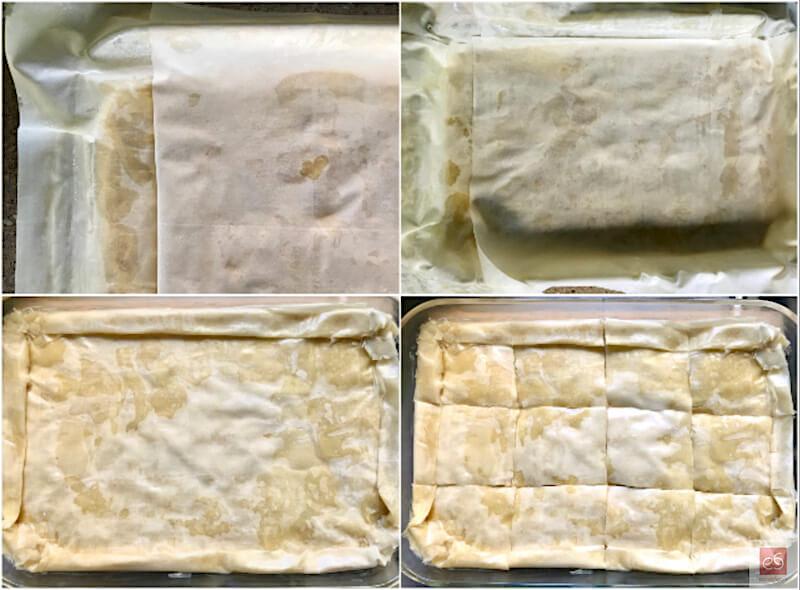 Στρώσιμο και γύρισμα φύλλων, κόθρος και χάραγμα της πίτας