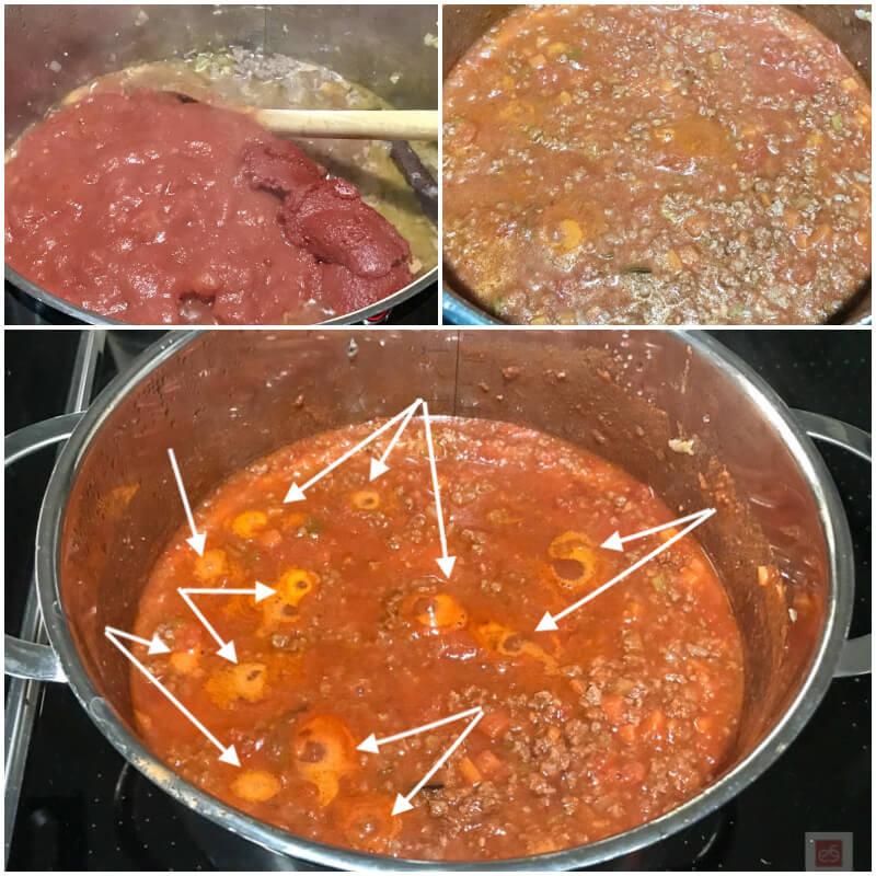 Γρήγορη κοκκινιστή σάλτσα κιμά (ραγού) για μακαρόνια: βρασμός